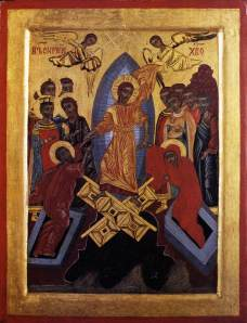 The Resurrection of Christ, by Unknown Icon Painter, Bulgarian, Public Domain