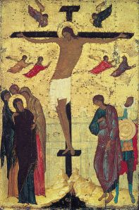 Crucifixion of Jesus, Russian icon by Dionisius, Public Doman