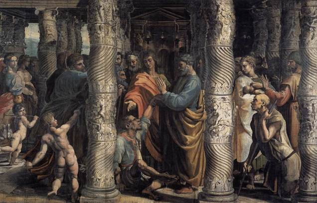 Healing of the Lame Man, Raphael, public domain
